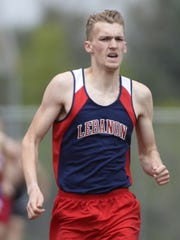 Lebanon's Derin Klick won the 800-meter run and set a new county record at last year's Lebanon County Track and Field meet at Lebanon High School.