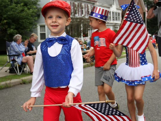 A previous Lebanon Borough Children's Parade on July
