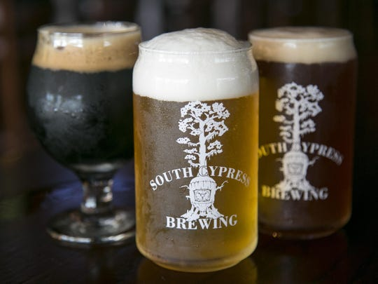 South Cypress Brewing has several different types of beer on tap.