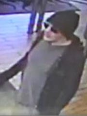The man left empty handed after trying to rob a Burger