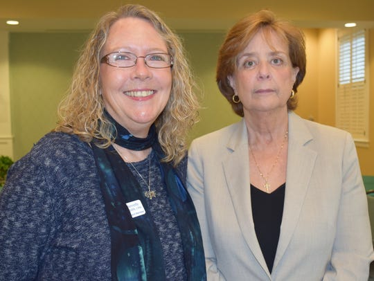 Beverly Smith and Pat Knipper, members of the Association