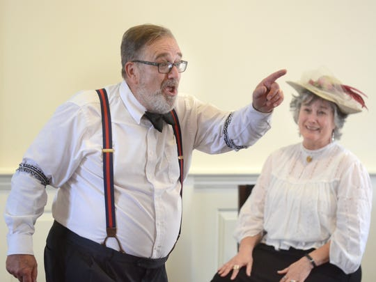Northville High School retired teacher Kurt Kinde passed away unexpectedly on Friday, Nov. 22. Here, he's pictured with Barbara Ibach telling Victorian-era kids stories.