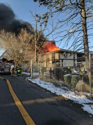 A fire in Spring Valley Saturday, March 11, left 25