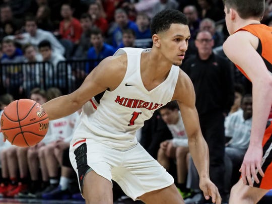 Minnehaha Academy (Minneapolis, Minnesota) point guard Jalen Suggs (Photo: Carrie Johnson)