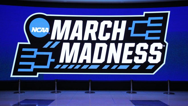 General view of a march madness logo.