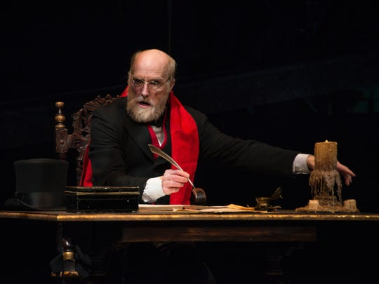 Jed Diamond returns as Ebenezer Scrooge in the Clarence