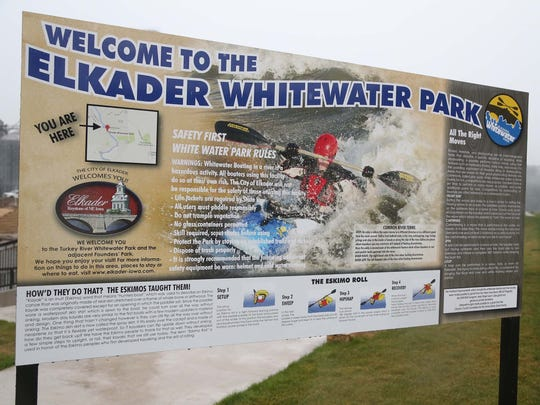 The city of Elkader's whitewater park on Friday, Aug.