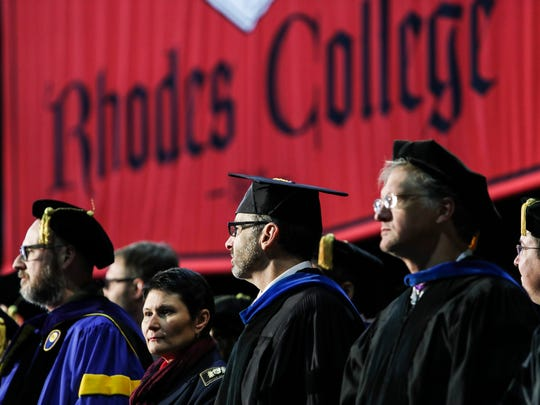January 13, 2018 - People file into their seats as the inauguration of Dr. Marjorie Hass, the twentieth president of Rhodes College, starts.