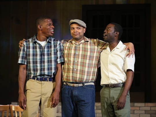 "From left are ""Little Rock"" cast members Damian Jermaine"