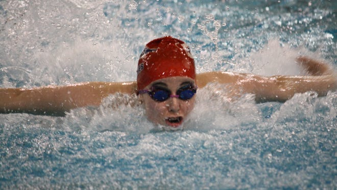 Talawanda junior Allie Marks is part of a swimming program that has captured nine consecutive league championships.