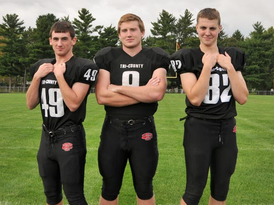 Tri-County seniors (from left) Tyler Kramer, Claude Cleereman and Erich Buechner have played an instrumental role in helping the Penguins earn a WIAA playoff berth  for just the third time in school history.