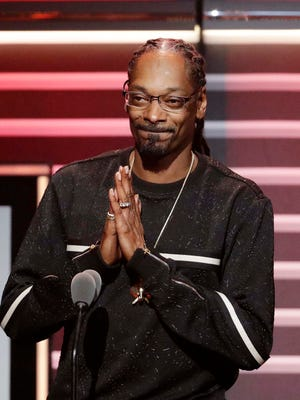 "Snoop Dogg pictured in 2016 after being honored with the ""I am Hip Hop"" award at the BET Hip Hop Awards in Atlanta."