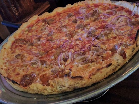 """Patsy's """"everything on it"""" pizza"""