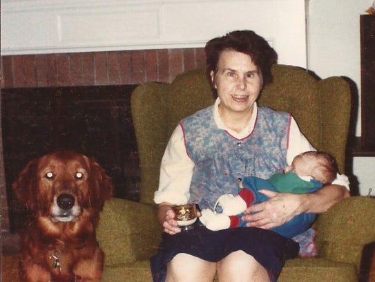 Rosemarie Deisinger, shown here in 1984, was blind,