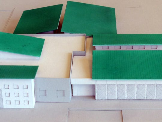 A model of the new animal shelter being built by the