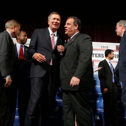 Republican presidential candidates, from left, Lindsey