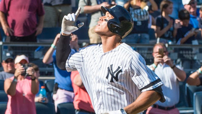 Aaron Judge slugged 59 home runs in 2017.