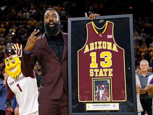 competitive price 3fd20 31d68 ASU honors former All-American James Harden