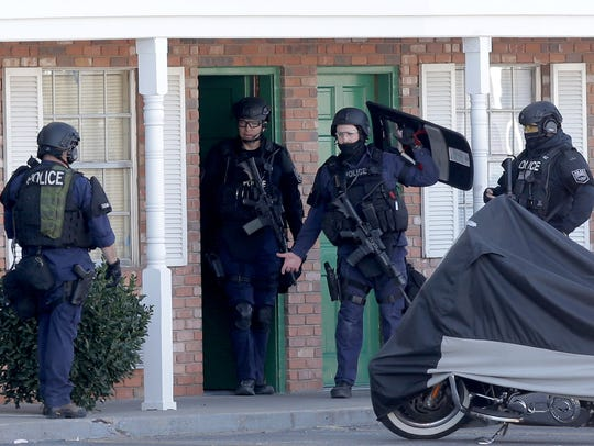 The El Paso Police Department SWAT team entered a room