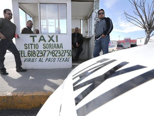 Taxi drivers who work along Avenida Tecnologico in
