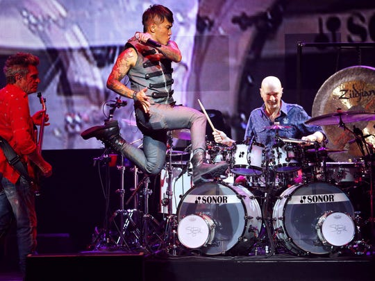 Journey performs Saturday, May 14, 2016, at the Ak-Chin Pavilion in Phoenix, Ariz.
