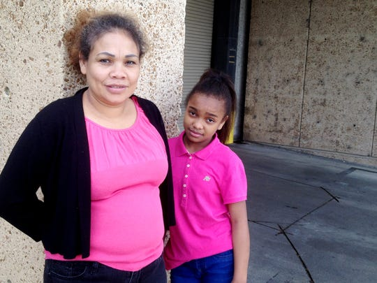 Maria Caballero, 41, and daughter Angie Johnson Caballero,