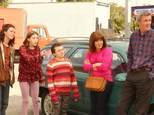 Charlie McDermott, left, Eden Sher, Atticus Shaffer, Patricia Heaton and Neil Flynn star in ABC's 'The Middle.'