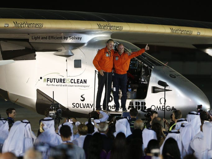 Bertrand Piccard and Andre Borschberg  pilots of the