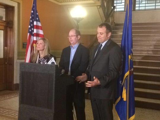 State Reps. Eric Genrich, D-Green Bay, Gordon Hintz,