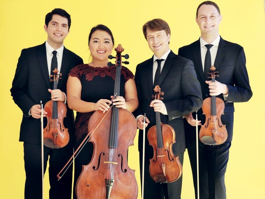 The Calidore String Quartet performs Friday at the University of Vermont.