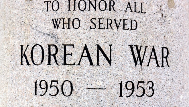 A plaque at the Korean War Veterans Plaza in New York City.