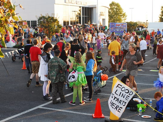 Newton Nissan's annual Trunk or Treat draws a large crowd.