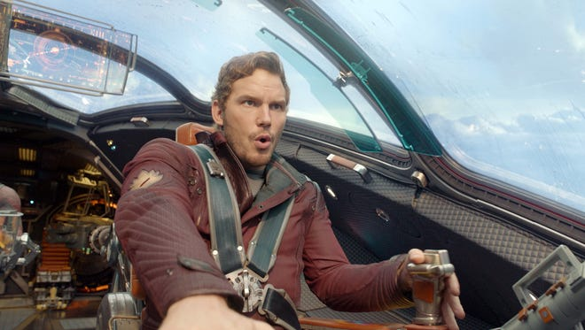 "This image released by Disney - Marvel shows Chris Pratt in a scene from ""Guardians Of The Galaxy."" (AP Photo/Disney - Marvel)"