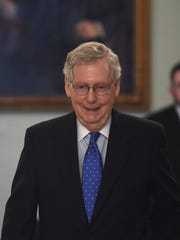 """It's finally over,"" McConnell said. The Kentucky Republican called Mueller's findings ""bad news for the outrage industrial complex but good news for the rest of the country."""