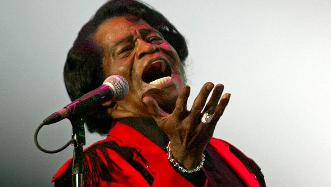 """""""Godfather of Soul"""" James Brown performs during a Java Jazz Festival concert in Jakarta,  Indonesia in this  Friday, March 4, 2005 file photo."""