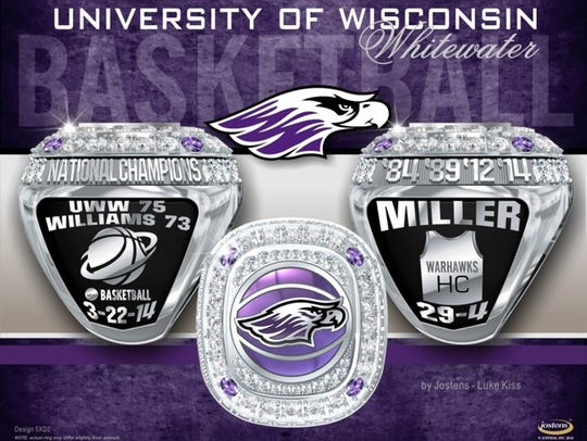 UW-Whitewater 2014 men's basketball ring