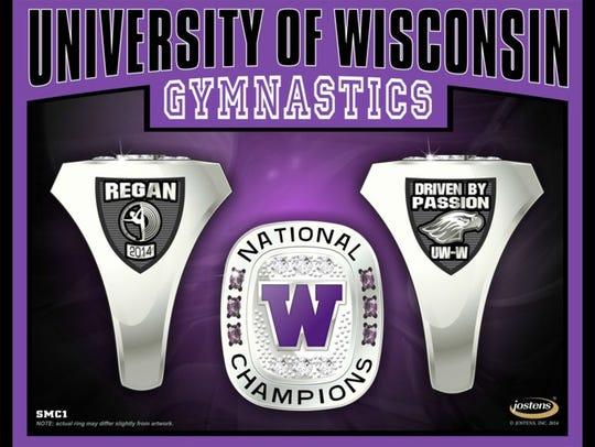UW-Whitewater 2014 women's gymnastics ring