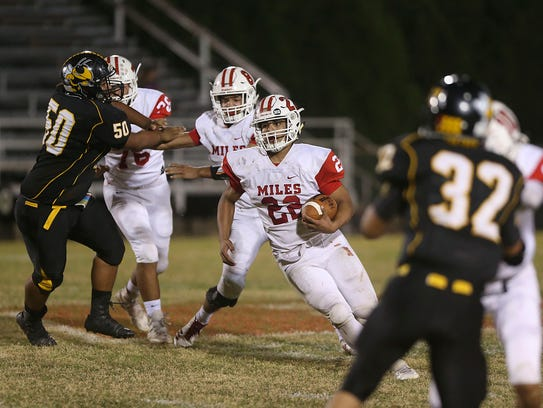 Miles High School running back Jonas Garcia had 827 yards rushing and 12 touchdowns, and defensively he had 94 total tackles from his linebacker spot.