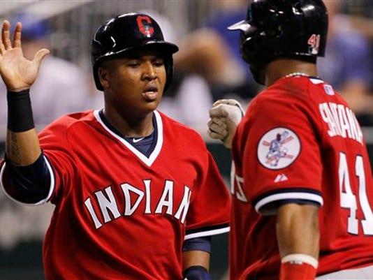 Indians Royals Baseba_Mann