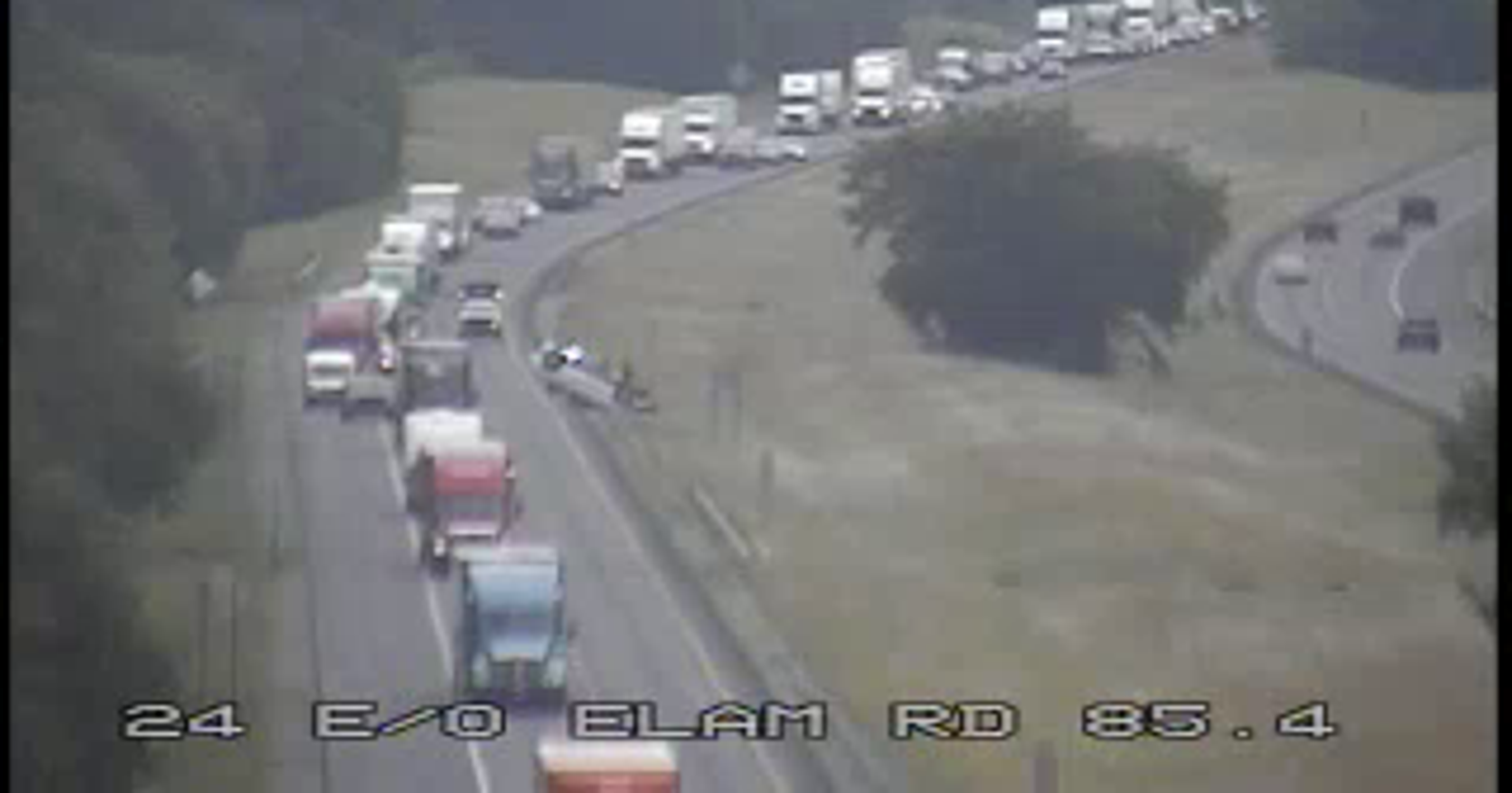 Overturned car causes delays on I-24 west near Murfreesboro