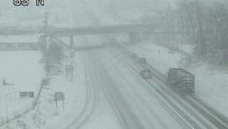 A tractor trailer is spotted traveling on Interstate 83 near Lewisberry during a commercial vehicle ban issued by PennDOT because of Wednesday's storm.