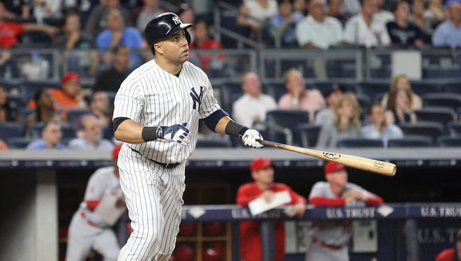 Carlos Beltran is batting over .300 this season with the Yankees.