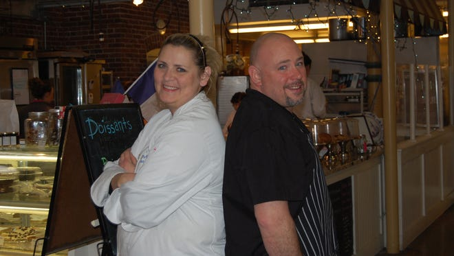 Husband and wife Roger and Cindy Hawkins own Circle City Soups and Circle City Sweets, respectively, located in the southwest corner of City Market in Downtown Indianapolis.