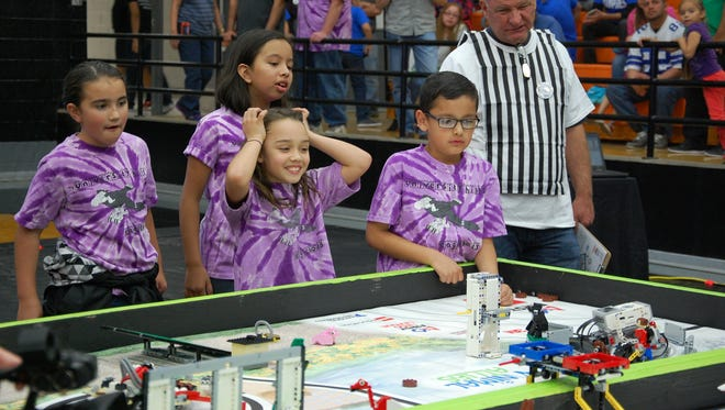 The University Hills Eaglebots participate in the First Lego League qualifier, which took place Nov. 19, in Las Cruces.