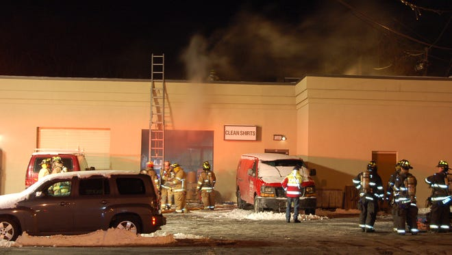 Firefighters responded to a fire in Elmwood Park just after 7:30 p.m. Sunday.