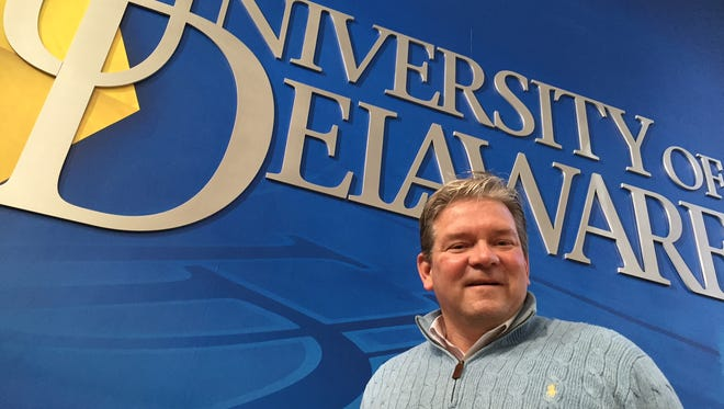 Matt Robinson, a professor who directs the sport management program in UD's Lerner College of Business and Economics, is serving as the Blue Hens' interim athletic director.