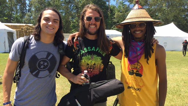 Members of Nashville's Roots of a Rebellion at Bonnaroo Music Festival Friday, June 10, 2016.