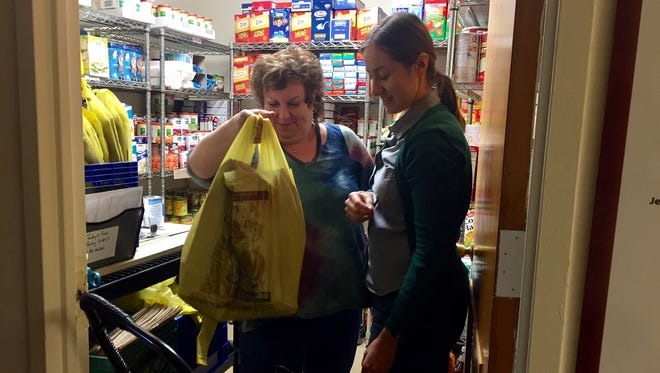 A food pantry at Jewish Family Services of Middlesex County provides food to those in need.