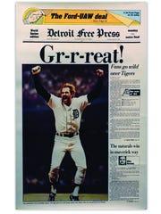 1984, Tigers win World Series