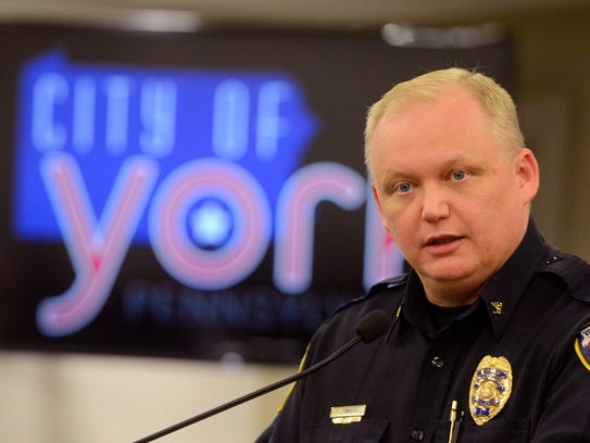 Interim Police Chief Troy Bankert gives a brief update